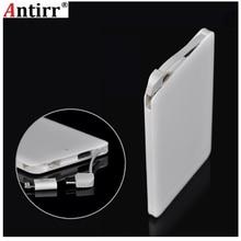 Antirr 6000 мАч Внешний аккумулятор портативное Внешнее зарядное устройство мобильный USB внешний аккумулятор встроенный зарядный кабель