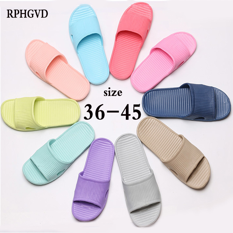 Couple Indoor Eva Home Hotel Sandals & Slippers Women Summer Non-slip Bathroom Home Slippers Men Hospitality Word Drag Wholesale