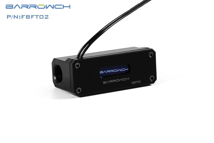 Barrowch FBFT02-V3, измеритель температуры охлаждения воды, многомодовый OLED цифровой смарт-дисплей, температура в реальном времени - Цвет лезвия: Black Panel