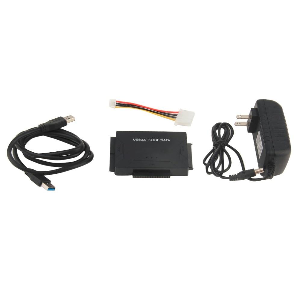 EU Cắm USB IDE SATA Adapter Ổ Cứng SATA để USB 3.0 Truyền DỮ LIỆU Chuyển Đổi cho 2.5/3.5/5.25 Ổ Đĩa Quang HDD SSD