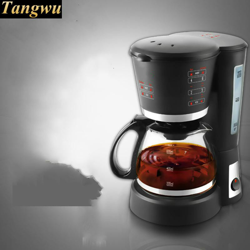 Full automatic coffee machine drip pot can be made in a teapot home intelligent fully automatic american style coffee machine drip type small is grinding ice cream teapot one machine
