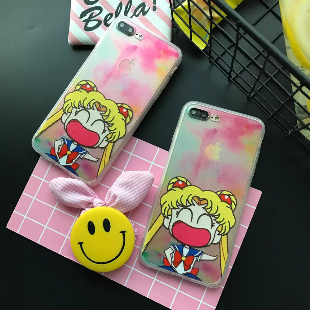New Guardian Sailor Moon case for iphone 7 7PLUS 6 6S 6PLUS phone protective cover PC+TPU soft edge back cases