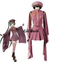 Vocaloid Hatsune Miku Senbonzakura Kimono Uniform Dress Cosplay Costumes Whole Set