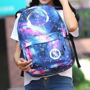 Image 4 - Mochilas escolares para niños mochila para chicas adolescentes con estampado de estrellas espaciales, mochilas escolares para niños, candado antirrobo con cargador USB