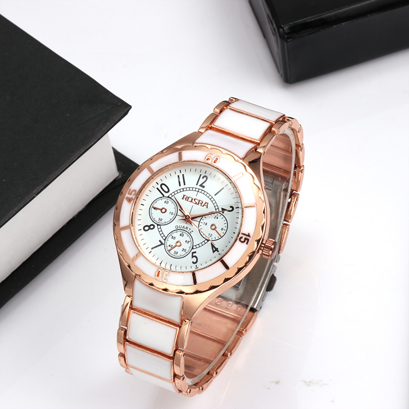 Womens Watches Stainless Steel Quartz Watches Luxury Rose Gold Watch Women ROSRA damen uhren horloge dames horloges vrouwen