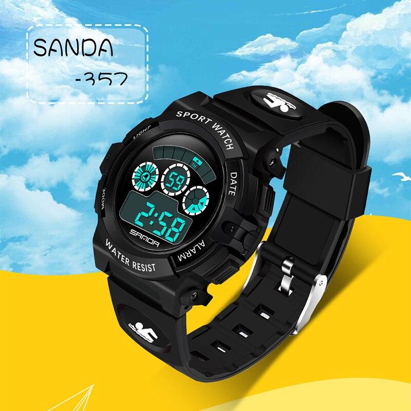 SANDA Sports Watches Children Girl Waterproof Electronics Student New-Fashion Boy LED