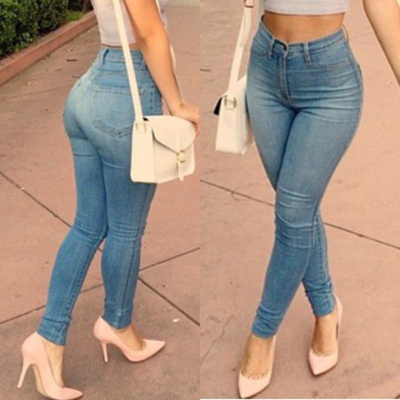 Women Tights leggings Pants Low Waist Leggings Sexy Hip Push Up Pants Pencil Skinny Female Thin Full Length Trousers Jeans 023