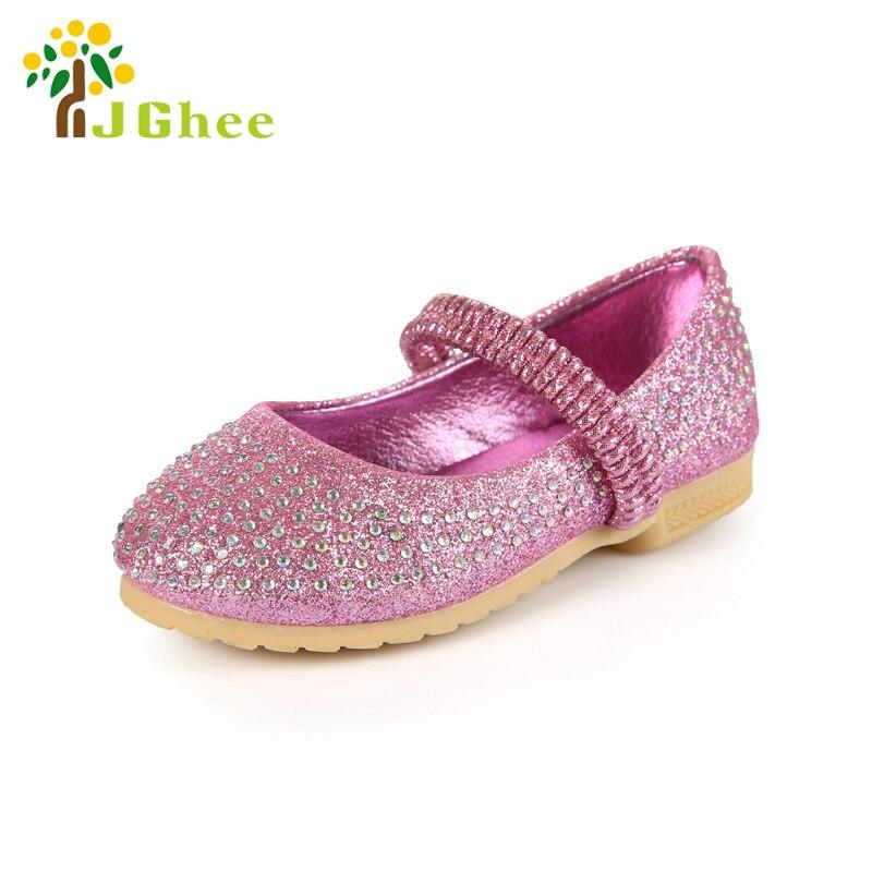 b97212daf3cddb Filles Robe de Soirée Chaussures Princesse De Mariage De Partie Bébé Fille  Chaussures Enfant En Bas Âge PU Chaussures En Cuir Strass Enfants Chaussures  21 ...