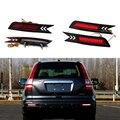 2 pcs red rear bumper refletores de luz do freio de estacionamento luz de advertência runing led luz da cauda para a honda crv 2010