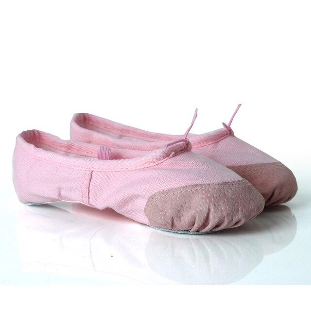 8eed4a62d9b9f Niños y Adultos Ballet Pointe danza Zapatos lona planos Zapatillas  bailarina Zapatos niños Niñas Ballet danza
