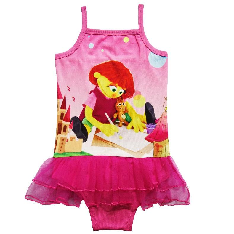 e77bd6dcb 2017 Baby Girls Swimwear Summer Kids Sesame Street Julia Swimsuit Children  Bathing Suit Girls Cartoon Swim Suit Bathers H797-in Tanks & Camis from  Mother ...
