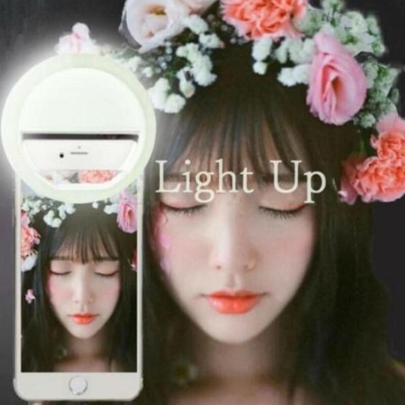 Mini Mobile Phone Clip Selfie LED Auto Flash Light Up For Smartphone Portable Selfie Flashlight Camera Flashlight For IPhone 6s