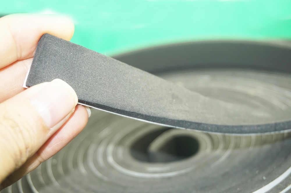 Черный Уплотнитель самоклеющаяся Резина дверное, оконное уплотнение полосы пены EVA