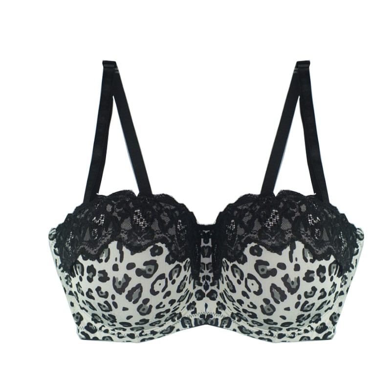 Mierside 2832 Women Large Bra Plus Size 36-44 D/DD/DDD Unerwire Big Cup Sexy strapless half cup bralette Big Size