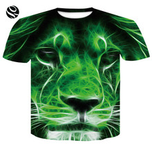 2018 Brand T-shirt Men/Women 3d T-shirt Print Green Lion Summer Tees Shirts Cool Fashion Tops T shirts street style men t-shirt