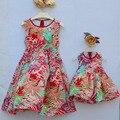 2-10 anos de idade da criança roupas de menina crianças clothing mãe e filha mulheres Boêmio Vestidos de praia Mulheres de Grande tamanho 3XL 4XL XL