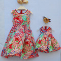 2-10 years old Child Girl Clothes Children clothing Mother and daughter women Bohemian beach Dresses Women Large size 3XL 4XL XL