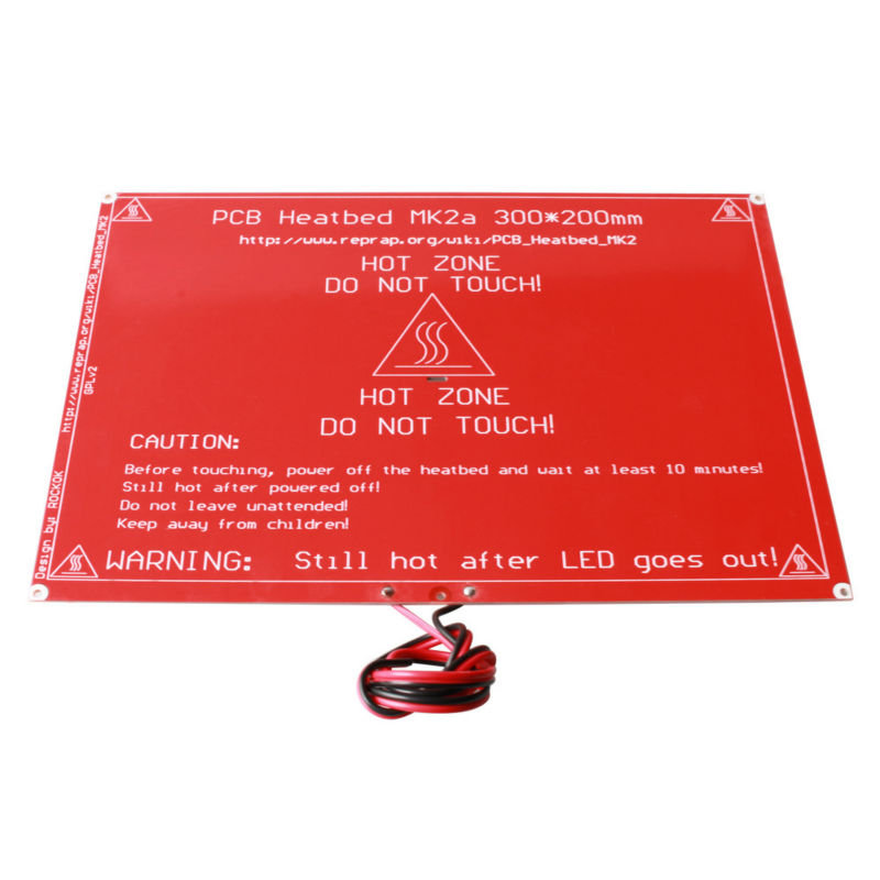 ANYCUBIC 300X200X2 0 RAMPS 1 4 Heatbed MK2A MK2B with led Resistor and cable for Mendel
