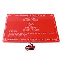 ANYCUBIC 300X200X2.0 ПЛАТФОРМЫ 1.4 Heatbed MK2A MK2B со светодиодной Резистор и кабель для Мендель 3d принтера Freeshipping!!!