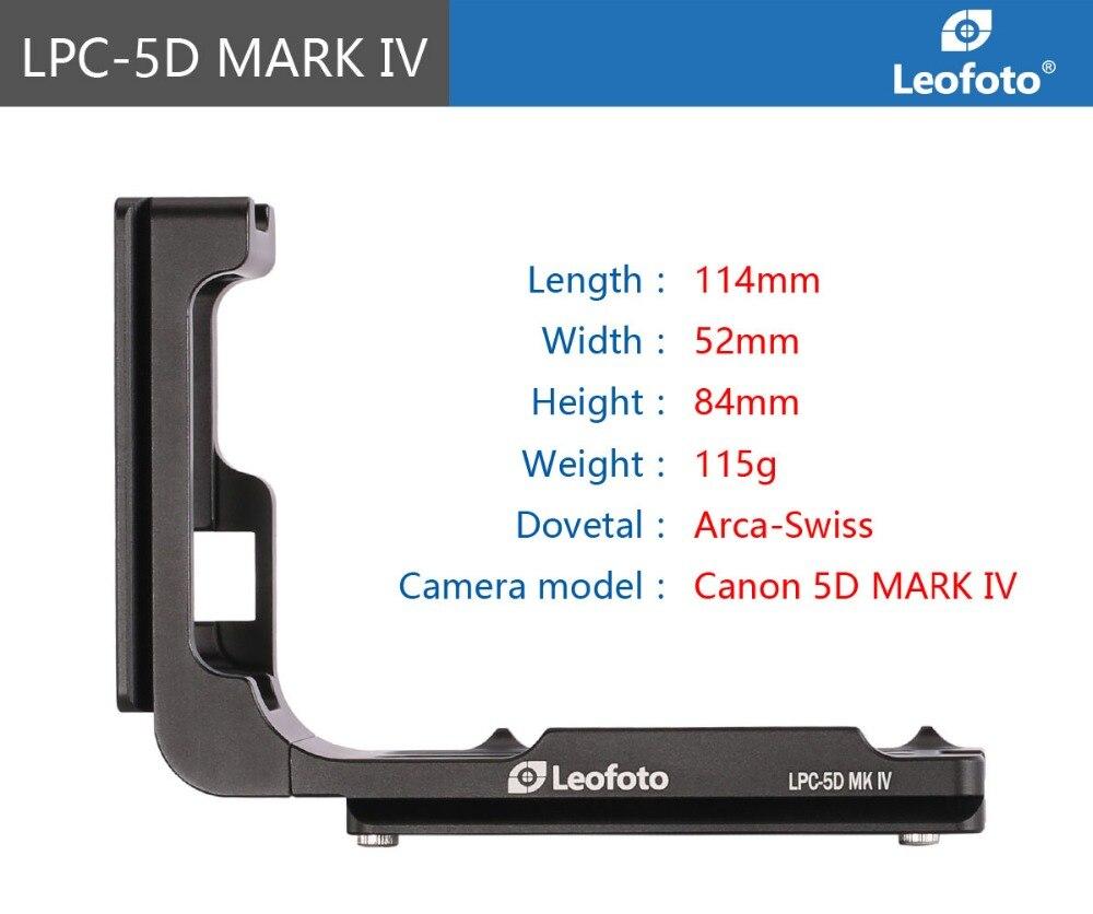 PCL-5DIV Personnalisé L Plaque Support pour Canon 5DIV 5D4 5D Mark IV Caméra Arca, Trucs vraiment Bien, Benro compatible