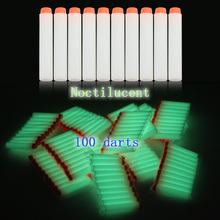 100pc Noctilucent Glow Soft Bullet Rampage Foam Darts Retaliator Blaster  Refill ElectricToy Gun Fluorescent for Nerf
