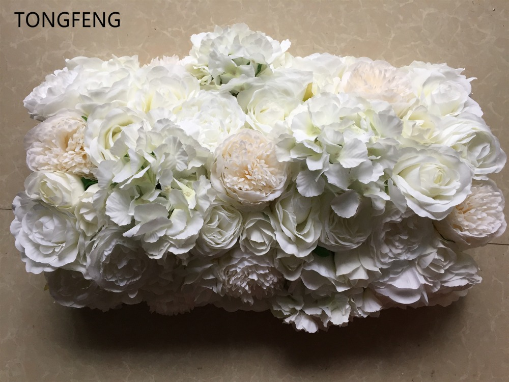 10pcs lot Artificial Wedding arch square pavilion corners decorative silk flower props Wedding decoration flower wall