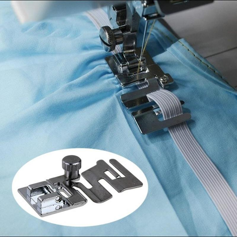1pc Elastic Cord Band Fabric Stretch Domestic Sewing Machine Foot Presser For Maker Clothes Accessories Feet For Sewing Machines