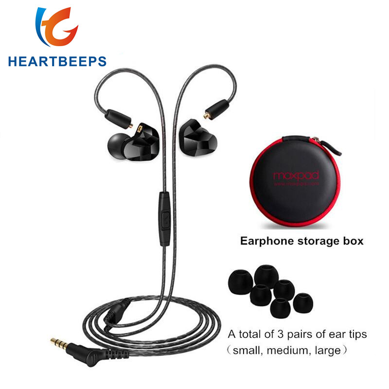 Moxpad X9 pro Dual Dynamic Driver Professional In Ear Earphone with Mic Super BASS for Mobile phone MP3 player Replacement cable vjjb n1 in ear earphone double dynamic diy hifi bass auriculares with mic cable audio cable for phone tablet computer