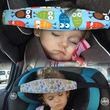 Asiento de coche de bebé infantil, soporte para la cabeza, cinturón de sujeción, Corralitos ajustables, posicionador de sueño, almohadas de seguridad para bebé