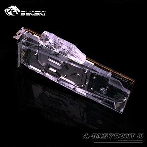 Image 2 - Bykski bloc de radiateur en cuivre pour refroidissement à eau, pour édition RX 5700 XT/5700XT, carte GPU AMD, couverture complète