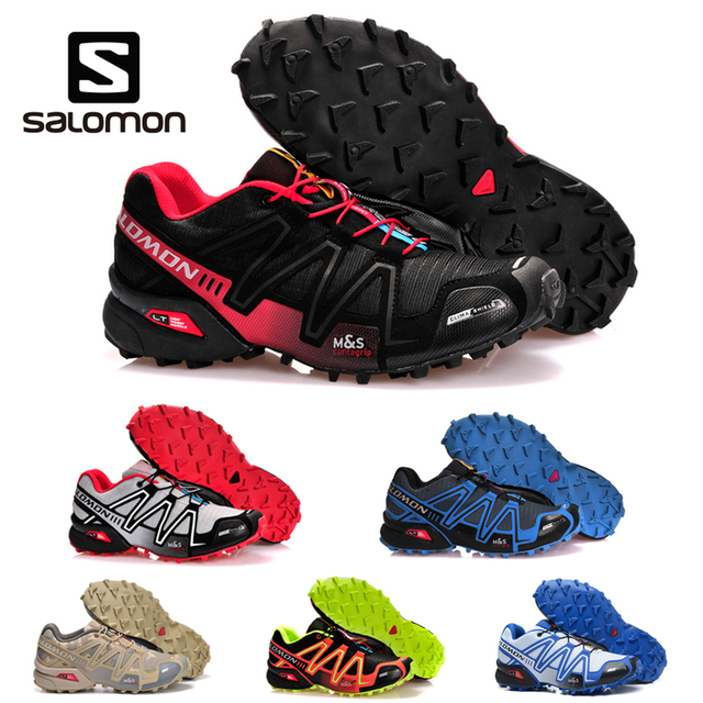 21dbab5a12ea Salomon Speed Cross 3 CS Men Outdoor Sport Shoes Breathable Sneakers  zapatillas Hombre Original Male Speedcross 3 Fencing Shoes