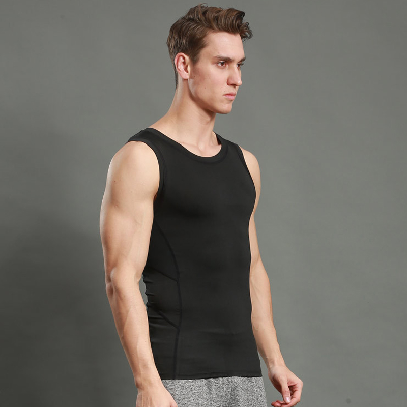 Systematic Bodybuilding Shirt Gym Men Basketball Shirt Solid Gym Singlet Muscle Tank Tees Workout Singlet Sleeveless Shirt Compression Tops