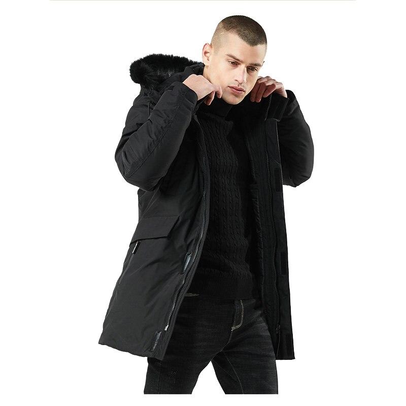 High Quality Thick Warm Parka Men Hooded Long Casual Slim Windbreaker Men Winter Jacket Coat