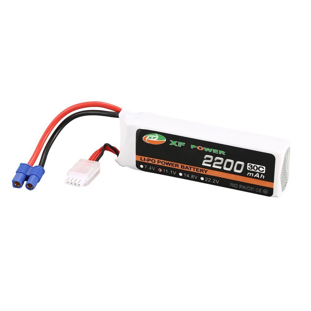 XF POWER 11.1V 2200mAh 30C 3S 3S1P Lipo Battery EC3 Plug Rechargeable For Blade 350 QX450 RC Drone Helicopter Car Boat ModelXF POWER 11.1V 2200mAh 30C 3S 3S1P Lipo Battery EC3 Plug Rechargeable For Blade 350 QX450 RC Drone Helicopter Car Boat Model