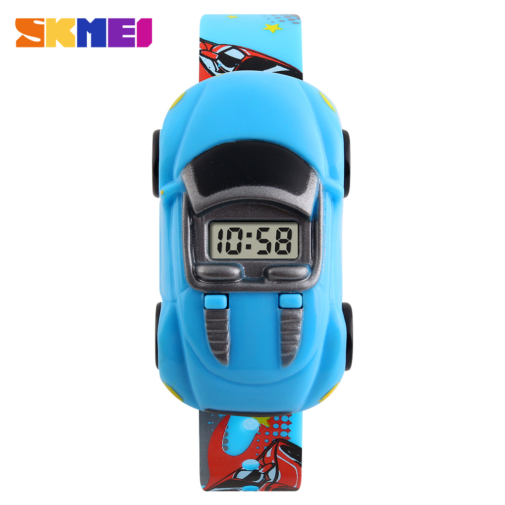 8b40169b76f Moda criativa crianças relógio skmei marca de carro dos desenhos animados  crianças relógios digitais para meninos das meninas do vestido de pulso em  ...