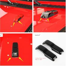 Lapetus Accessories For Jeep Wrangler JL 2018 2019 Front Face Up Engine Hood Frame Molding Cover Kit Trim / 3 Colors Choice
