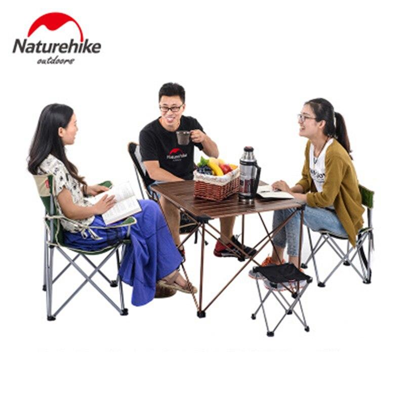 Naturehike открытый складной столик для кемпинга открытый рыбалка кемпинг столы портативный легкий алюминиевый стол Кемпинг Пикник парк - 3