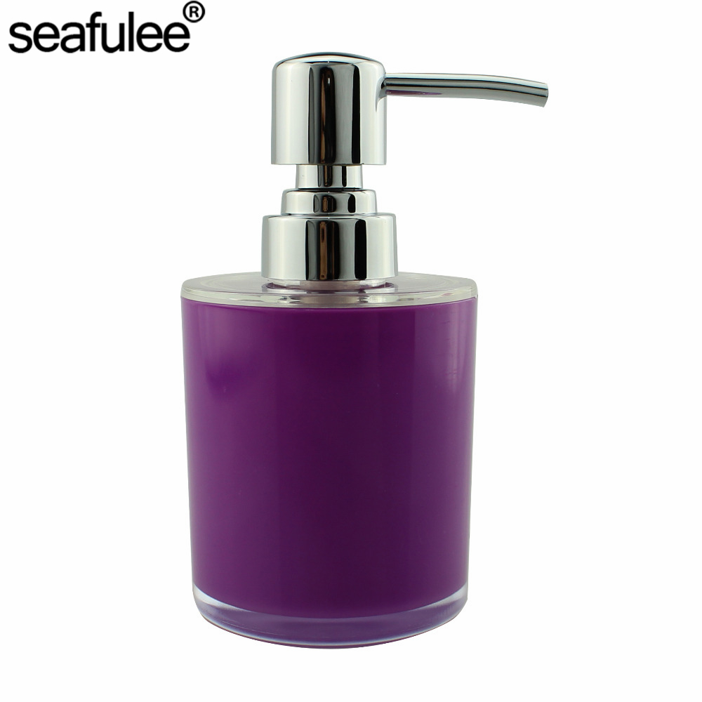 Acrylic lotion liquid soap dispenser pump bottle kitchen for Liquid soap dispenser for bathroom