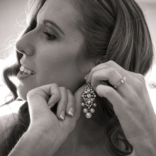 Pearl Glass Mixed Chandelier Earring