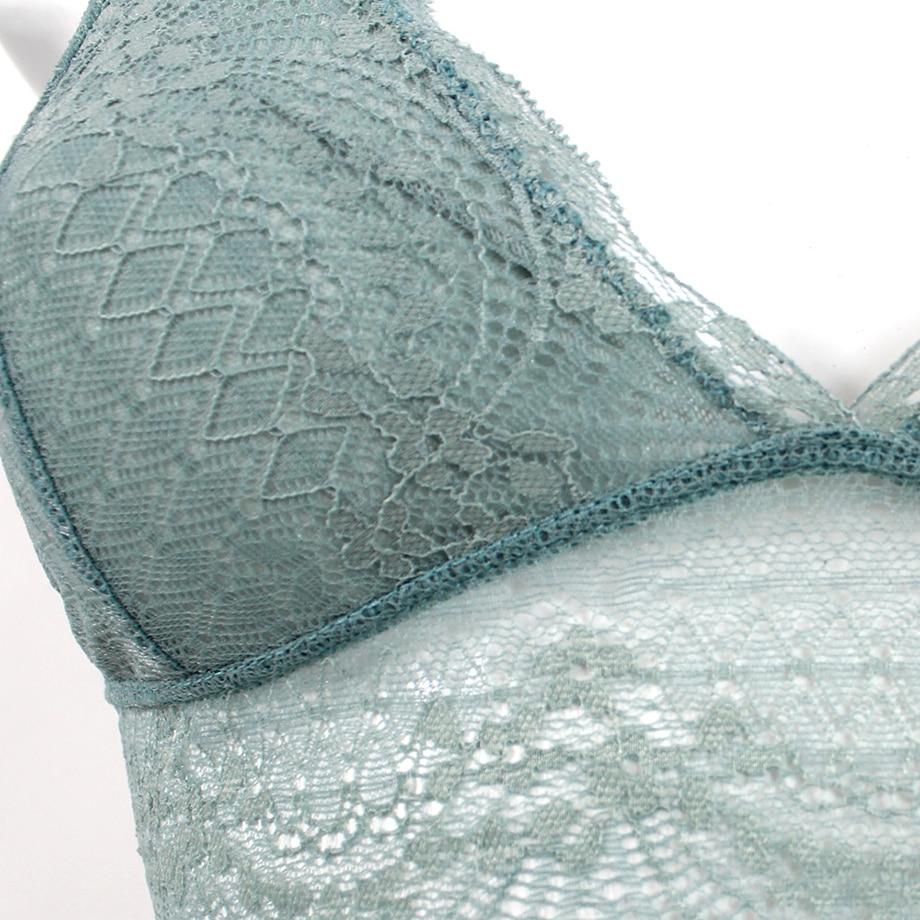 389df365411 De Monarchia Ladies Lace Bralette Sexy Lingerie Underwear Intimate Bra 3 4  Cups Crop Top Unlined Soft Bras Translucent-in Bras from Underwear    Sleepwears ...