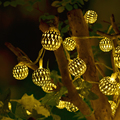 5 М 30 Светодиодов AC 220 В СВЕТОДИОДНЫЕ Строки Освещение Праздник Серебристый Металлический Шар Свадьба Рождество Главная Украшение Фея Строка свет Лампы