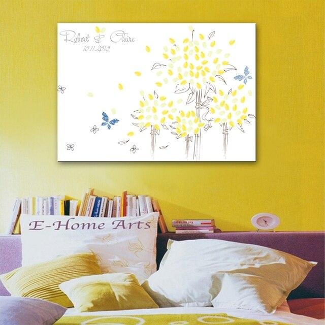 Diy Fingerabdruck Unterschrift Leinwand Malerei Sonnenblumen