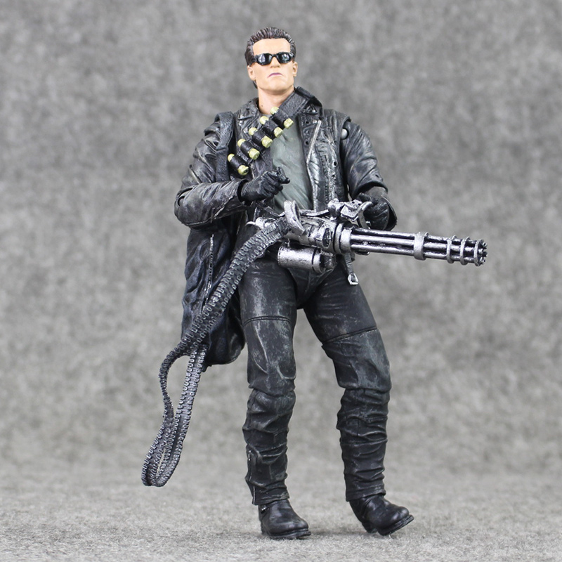 18cm NECA Terminator 2: Judgment Day T-800 Arnold Schwarzenegger PVC Action Figure Collectible Model Toy free shipping neca the terminator 2 action figure t 800 cyberdyne showdown pvc figure toy 718cm zjz001