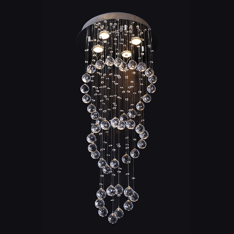 New arrive Crystal Ceiling Light For Living Room Indoor Lamp with Remote Controlled luminaria home decoration Free Shipping