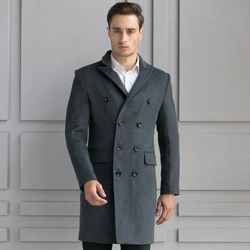 JOOBOX 2018 Jacket Men Autumn Winter Trench Coat Overcoats Jacket Men's Casual Fashion Slim Fit Large Peacoat Hombre Outwear