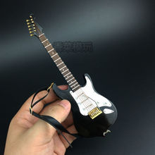 """Mini Musical Ornaments 1/6 Scale Black Folk electric guitar model instrument for 12"""" Action Figure Accessories Collections"""