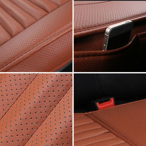 Image 2 - אוניברסלי רכב מושב כיסוי לנשימה עור מפוצל Pad Mat אוטומטי כיסא כרית רכב קדמי מושב כיסוי ארבע עונות אנטי להחליק מחצלת