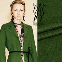 Fashionable, high grade, green, glossy wool fabric, winter and winter coat, windbreaker, custom made cloth