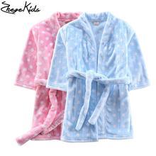 Automne Hiver Enfants vêtements de Nuit Peignoirs Flanelle Garçons Filles Pyjamas Home Clothes Bébé Costume Doux Enfants Robes