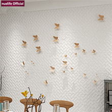 3d irregular pattern soft pack wallpaper living room bedroom childrens waterproof anti-collision foam wall stickers